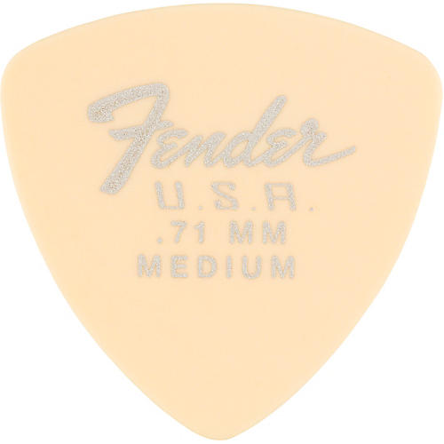 Fender 346 Dura-Tone Delrin Pick (12-Pack), Olympic White .71 mm 12 Pack