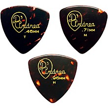 346 Rounded Triangle Celluloid Guitar Picks - One Dozen Shell Medium