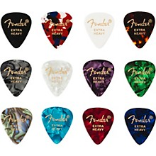 Fender 351 Shape Celluloid Medley Guitar Picks (12-pack)