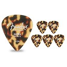 351 Shape Tortuga Ultem Guitar Picks (6-Pack), Tortoise Shell Extra Heavy