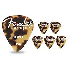 Fender 351 Shape Tortuga Ultem Guitar Picks (6-Pack), Tortoise Shell