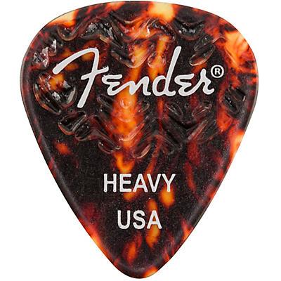 Fender 351 Shape Wavelength Picks (6-Pack), Tortoise Shell