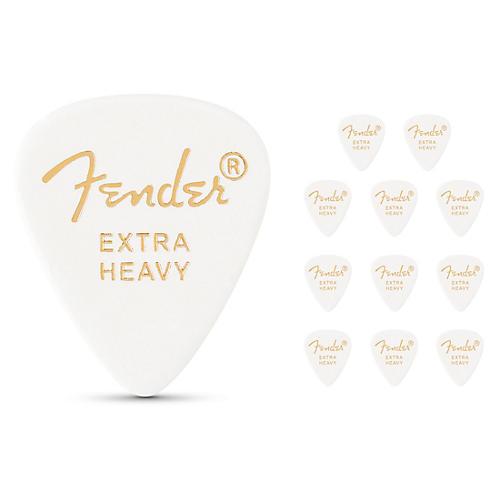 Fender 351 Standard Guitar Pick White Extra Heavy 12 Pack