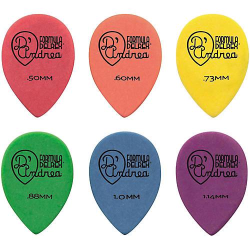 D'Andrea 358 Small Delrex Delrin Guitar Picks Teardrop - One Dozen Green .88 mm
