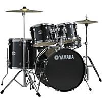 Yamaha Gigmaker 5-Piece Standard Drum Set With 22 Bass Drum Black Glitter