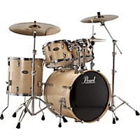 Pearl Vision Birch Lacquer 5-Piece New Fusion Shell Pack Black Ice