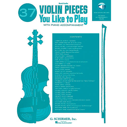 G. Schirmer 37 Violin Pieces You Like to Play String Solo Series Softcover with CD Composed by Various