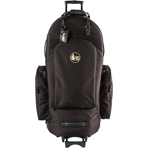 Gard 4/4 Medium Frame Tuba Wheelie Bag 63-WBFSK Black Synthetic w/ Leather Trim