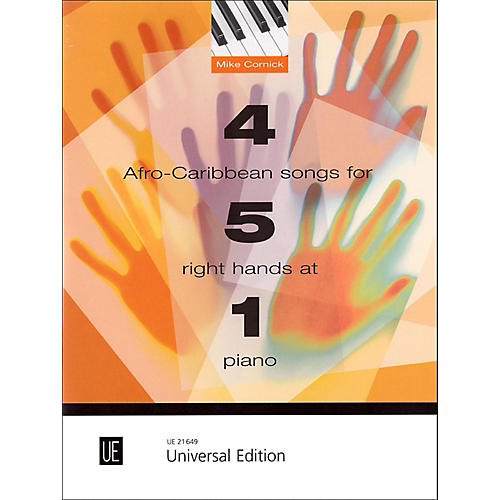 Carl Fischer 4 Afro-Caribbean Songs for 5 Right Hands at 1 Piano Book