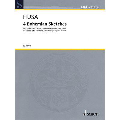 Schott 4 Bohemian Sketches Woodwind Series Book