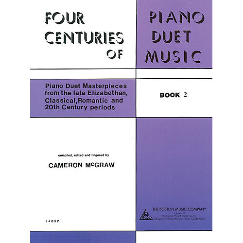 Boston Music 4 Centuries of Piano Duet Music (Book 2) Music Sales America Series Softcover
