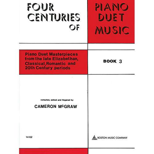 Boston Music 4 Centuries of Piano Duet Music (Book 3) Music Sales America Series Softcover