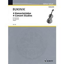 Schott 4 Concert Studies (Violoncello Solo) Schott Series Composed by Mikhail Bukinik