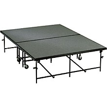 4' Deep x 8' Wide Mobile Stage 24 Inch High Carpeted Deck