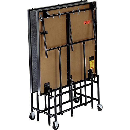 Midwest Folding Products 4' Deep x 8' Wide Mobile Stage 24 Inch High Hardboard Deck