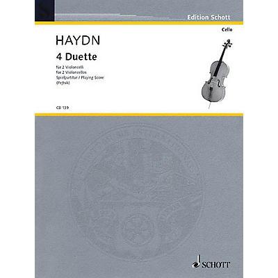 Schott 4 Duets for 2 Cellos Schott Series
