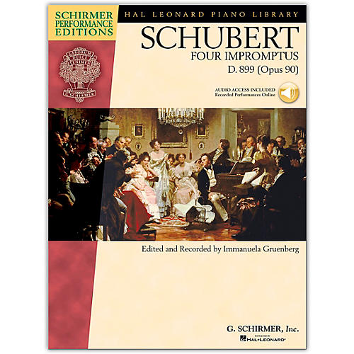 G. Schirmer 4 Impromptus, Op. 90 - Piano - Schirmer Performance Edition Book/Online Audio By Schubert / Gruenberg
