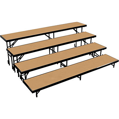 """National Public Seating 4 Level Straight Standing Choral Riser (18""""x96"""" Platform)"""