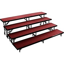 "National Public Seating 4 Level Straight Standing Choral Riser (18""x96"" Platform)"