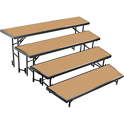 National Public Seating 4 Level Tapered Standing Choral Riser