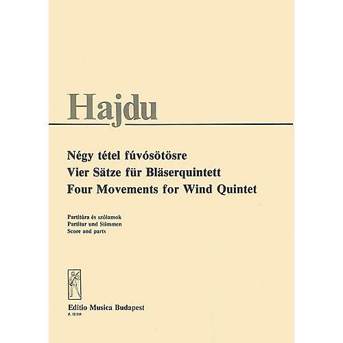 Editio Musica Budapest 4 Movements (Wind Quintet) EMB Series by Mihály Hajdu
