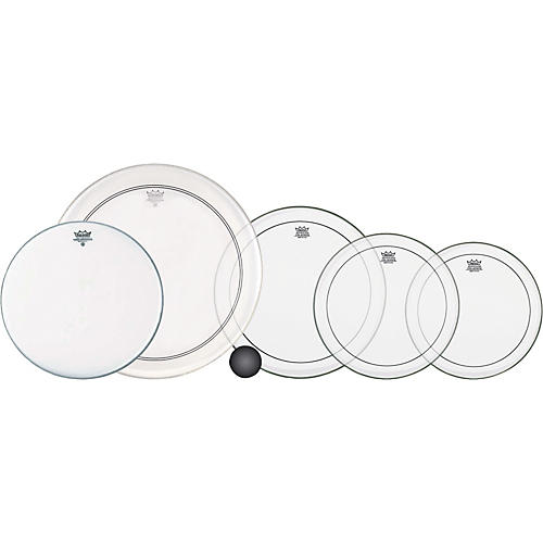 Remo 4-Piece Clear Pinstripe Standard Pro Pack with Free 14 in. Coated Ambassador Snare Drum Head
