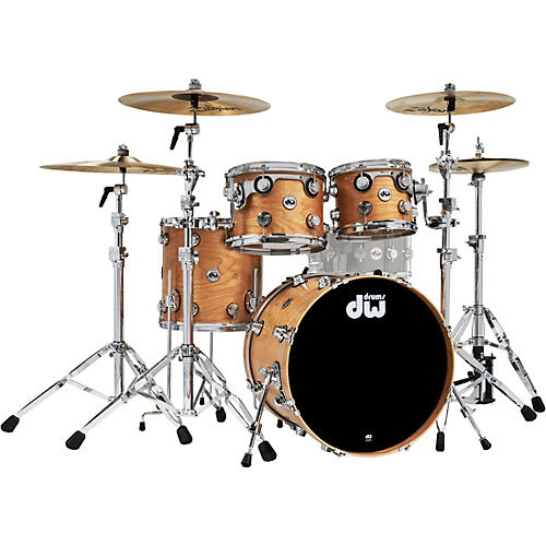 DW 4-Piece Collectors Series Cherry Shell Pack with Chrome Hardware Satin Natural