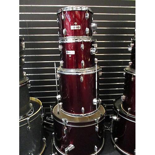Sound Percussion Labs 4 Piece Drum Set Drum Kit Wine Red