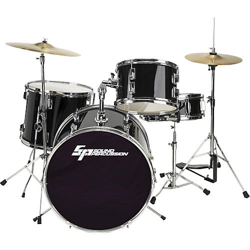 sound percussion labs 4 piece drum set with hardware and cymbal musician 39 s friend. Black Bedroom Furniture Sets. Home Design Ideas