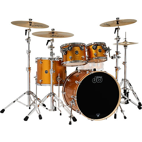 DW 4-Piece Performance Series Shell Pack Gold Sparkle