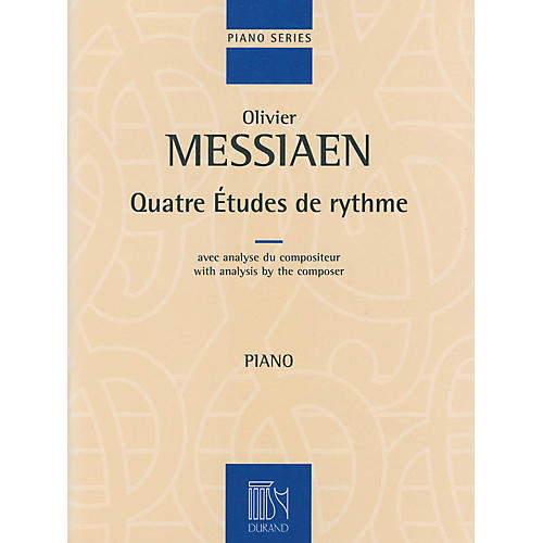Editions Durand 4 Études de rythme (with analysis by the composer Piano) Editions Durand Series Softcover (Advanced)