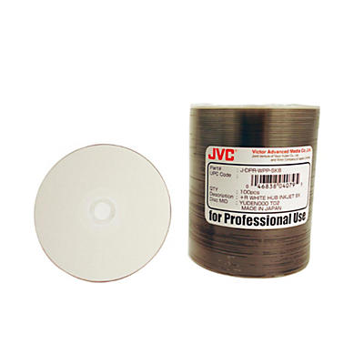 Taiyo Yuden 4.7GB DVD+R, 8X, White Inkjet-Printable and Hub Printable, 100 Disc Spindle