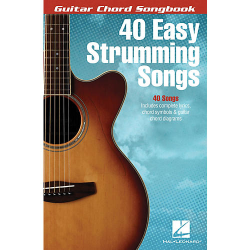 Hal Leonard 40 Easy Strumming Songs Guitar Chord Songbook Series Softcover Performed by Various