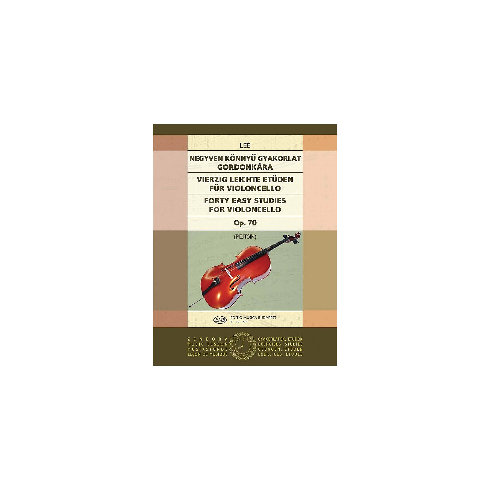 Editio Musica Budapest 40 Easy Studies for Violoncello in the First Position, Op. 70 EMB Series by Sebastian Lee