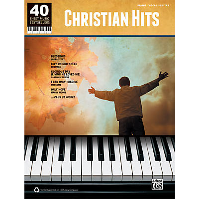 Alfred 40 Sheet Music Bestsellers: Christian Hits Book
