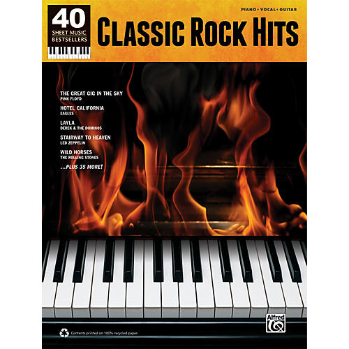 Alfred 40 Sheet Music Bestsellers: Classic Rock Hits Book