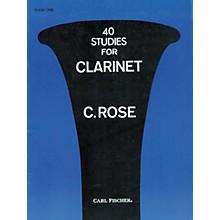 Carl Fischer 40 Studies For Clarinet Book