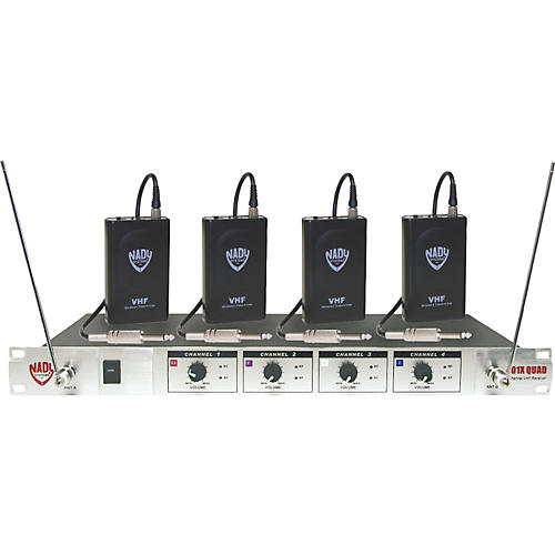 nady 401x quad wgt vhf wireless guitar system set a musician 39 s friend. Black Bedroom Furniture Sets. Home Design Ideas