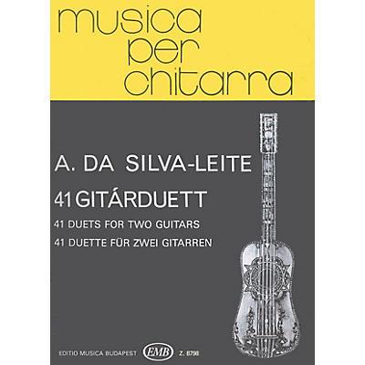 Editio Musica Budapest 41 Duets (Guitar Duo) EMB Series Composed by Antonio da Silva-Leite