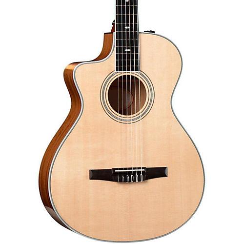 taylor 412ce n l ovangkol spruce nylon string grand concert left handed acoustic electric guitar. Black Bedroom Furniture Sets. Home Design Ideas