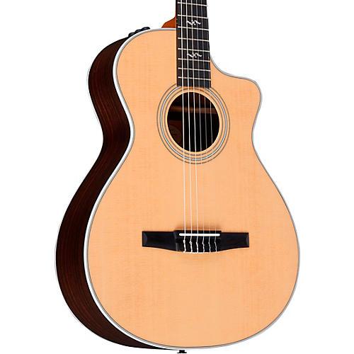 taylor 412ce n rosewood grand concert nylon string acoustic electric guitar regular natural. Black Bedroom Furniture Sets. Home Design Ideas