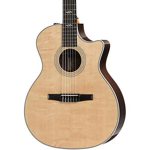 Taylor 414ce-N Grand Auditorium Nylon-String Acoustic-Electric Guitar Natural
