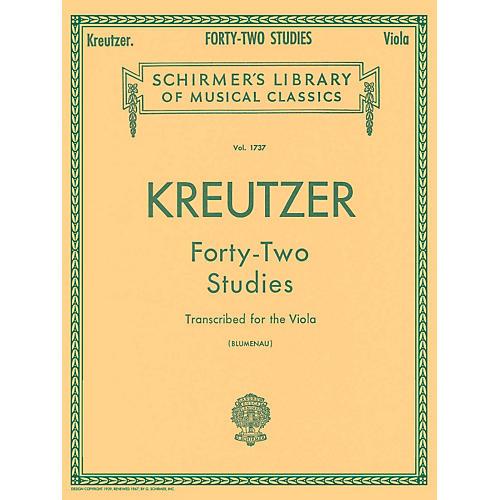 G. Schirmer 42 Studies Transcribed for The Viola By Kreutzer