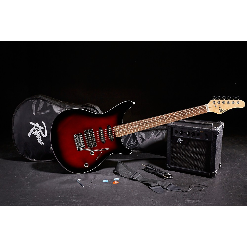 Rogue-Rocketeer-Electric-Guitar-Pack-Red-Burst thumbnail 7