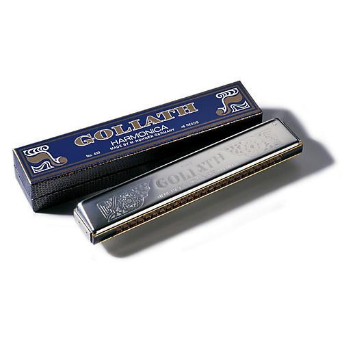 Hohner 453-C Goliath Tremolo Key Harmonica, Chrome