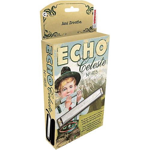 Hohner 455 Echo Celeste Tremolo Harmonica B
