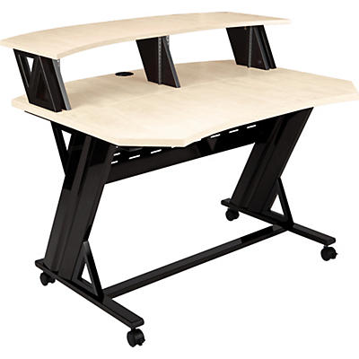 "Studio Trends 46"" Studio Desk With Dual 4 RU Racks - Maple"