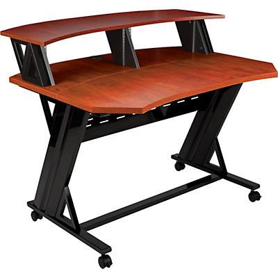 """Studio Trends 46"""" Studio Desk with Dual 4 RU Racks - Cherry"""