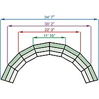 Midwest Folding Products Tiered Tapered Standing Choral Risers 4 Level, Hardboard