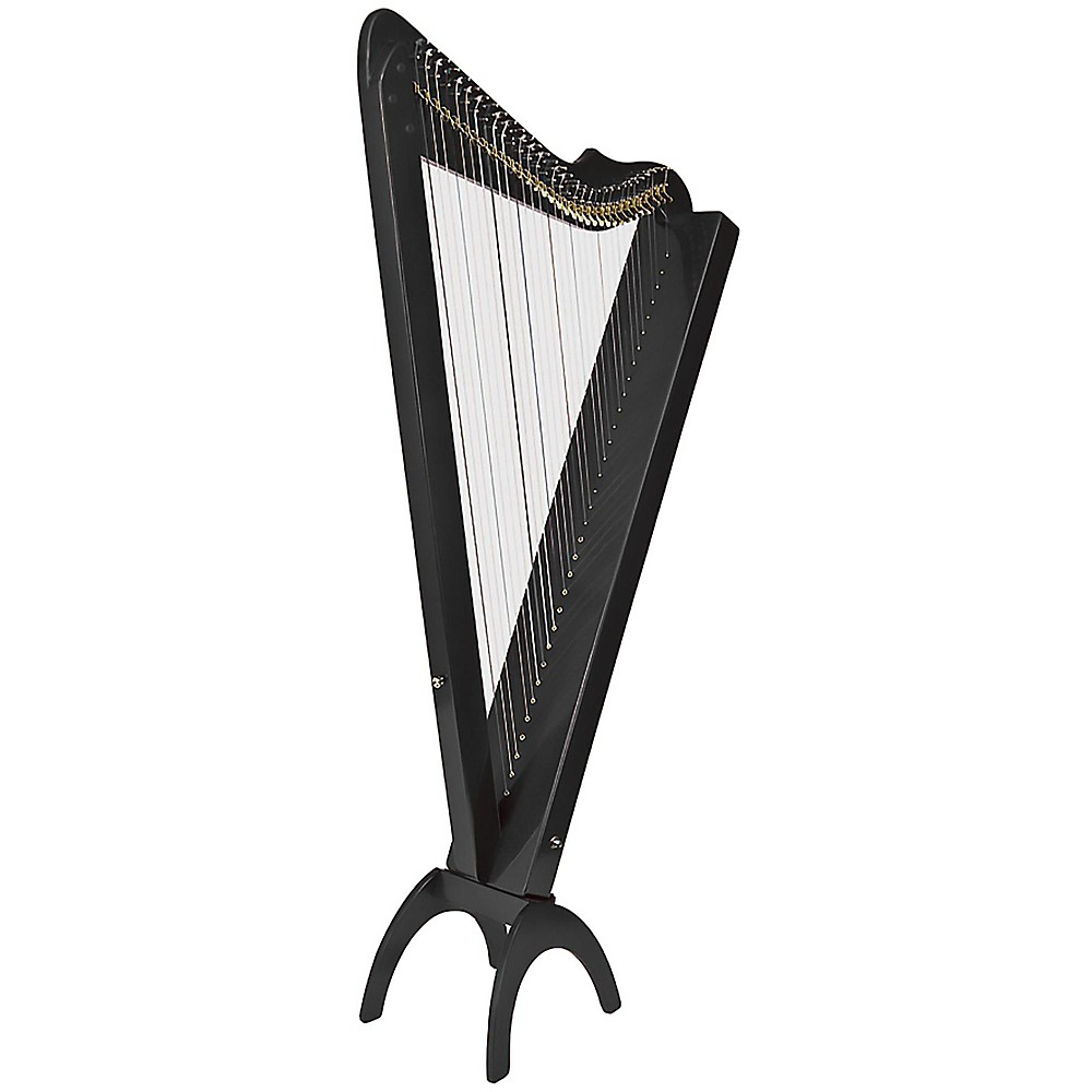 Rees Harps Grand Harpsicle Harp Black